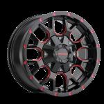 8015 WARRIOR - BLACK W/PRISM RED