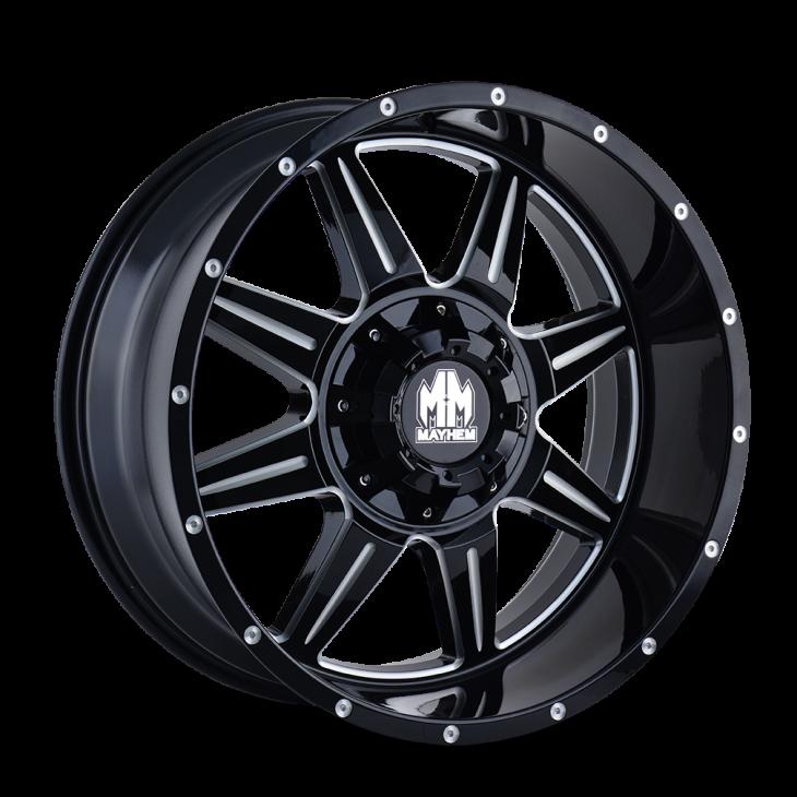 8100 MONSTIR - GLOSS BLACK/MILLED SPOKES