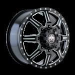 8101 MONSTIR - FRONT BLACK/MILLED SPOKES