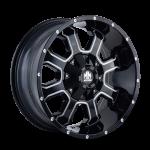 8103 FIERCE - GLOSS BLACK/MILLED SPOKES