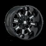8105 COMBAT - GLOSS BLACK/MILLED SPOKES