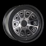 8301 FLAT IRON - MATTE BLACK W/DARK TINT
